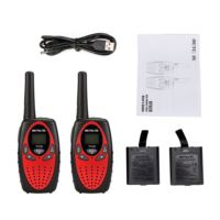 2 PCS Rechargeable Kids Walkie Talkie-RT628 red