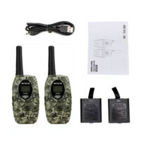 2 PCS Rechargeable Kids Walkie Talkie-RT628 camouflage
