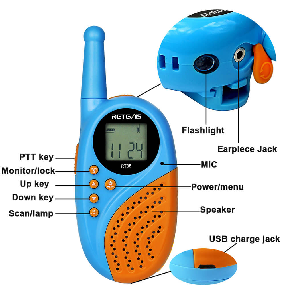 how to use children's walkie-talkies.